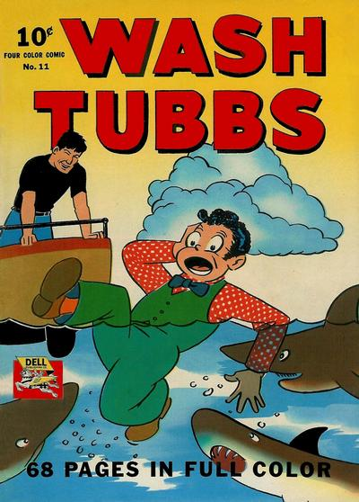 Cover for Four Color (Dell, 1942 series) #11 - Wash Tubbs