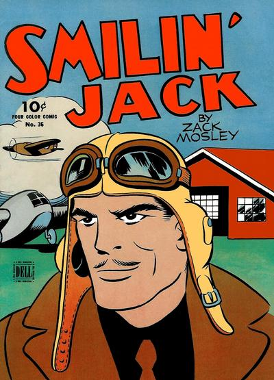 Cover for Four Color (Dell, 1942 series) #36 - Smilin' Jack