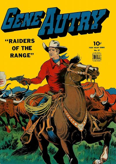 Cover for Four Color (Dell, 1942 series) #57 - Gene Autry, Raiders of the Range
