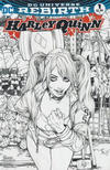 Cover for Harley Quinn (DC, 2016 series) #1 [AOD Collectables Ashley Witter Black and White Cover]
