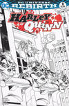 Cover for Harley Quinn (DC, 2016 series) #1 [Yancy Street Comics Tom Raney Black and White Cover]