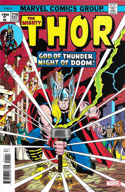 Cover for Thor No. 229 Facsimile Edition (Marvel, 2020 series)