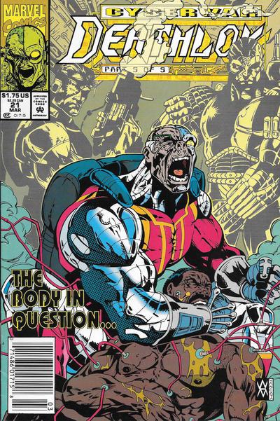 Cover for Deathlok (Marvel, 1991 series) #21 [Direct]