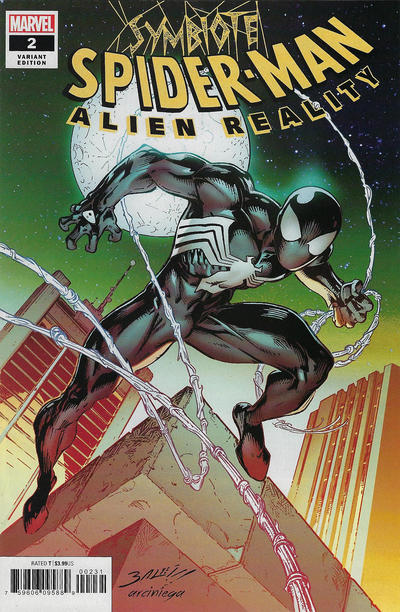 Cover for Symbiote Spider-Man: Alien Reality (Marvel, 2020 series) #2 [Variant Edition - Alex Saviuk Cover]
