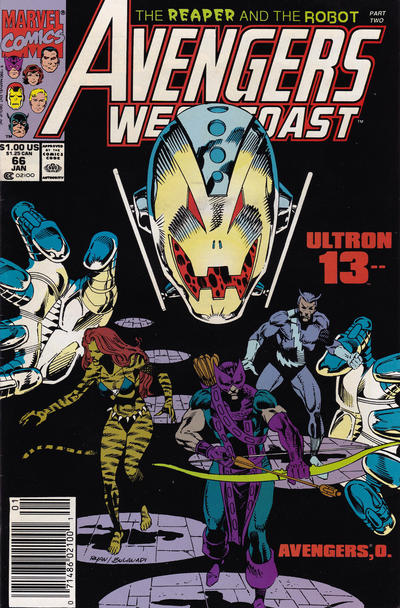 Cover for Avengers West Coast (Marvel, 1989 series) #66 [Direct]