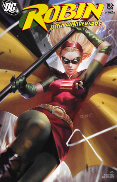 Cover for Robin 80th Anniversary 100-Page Super Spectacular (DC, 2020 series) #1 [2010s Variant Cover by Yasmine Putri]