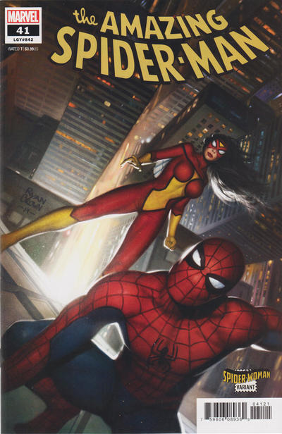 Cover for Amazing Spider-Man (Marvel, 2018 series) #41 (842) [Spider-Woman Variant - Ryan Brown Cover]