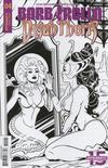 Cover for Barbarella/Dejah Thoris (Dynamite Entertainment, 2019 series) #4 [Cover J Black and White Maria Sanapo]