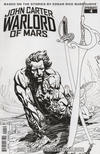 Cover for John Carter, Warlord of Mars (Dynamite Entertainment, 2014 series) #4 [Bart Sears Retailer Incentive Black and White Variant]