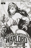 Cover for John Carter, Warlord of Mars (Dynamite Entertainment, 2014 series) #3 [Cover F - Ed Benes Retailer Incentive Black and White Variant]