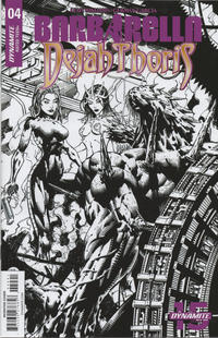 Cover Thumbnail for Barbarella/Dejah Thoris (Dynamite Entertainment, 2019 series) #4 [Cover I Black and White Zach Hsieh]