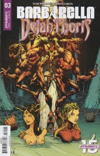 Cover Thumbnail for Barbarella/Dejah Thoris (Dynamite Entertainment, 2019 series) #3 [Cover B Zack Hsieh]