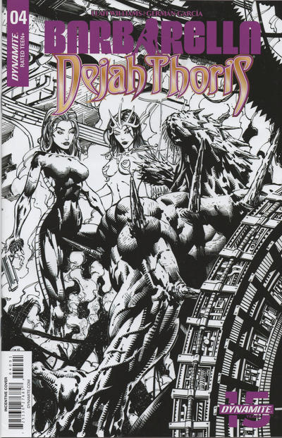Cover for Barbarella/Dejah Thoris (Dynamite Entertainment, 2019 series) #4 [Cover A Laura Braga]