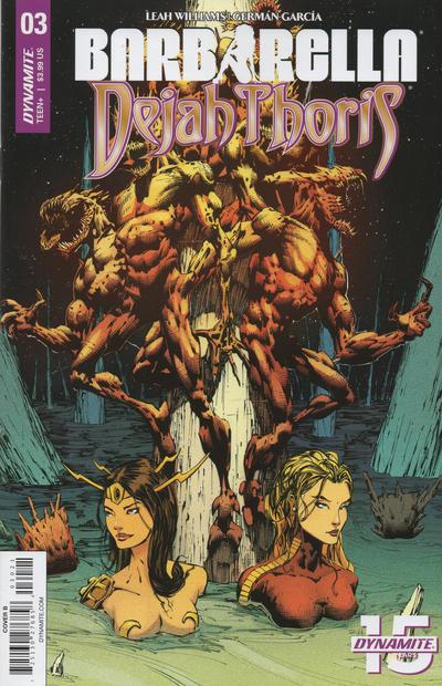 Cover for Barbarella/Dejah Thoris (Dynamite Entertainment, 2019 series) #3 [Cover B Zack Hsieh]