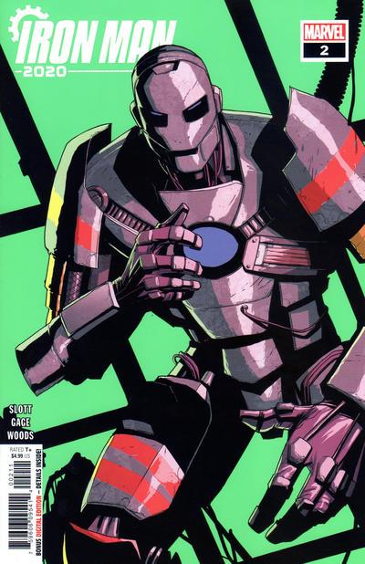 Cover for Iron Man 2020 (Marvel, 2020 series) #2 [Superlog]
