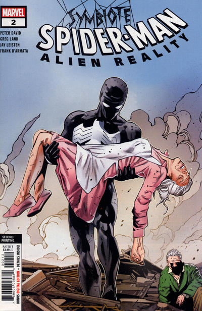 Cover for Symbiote Spider-Man: Alien Reality (Marvel, 2020 series) #2 [Variant Edition - Mark Bagley and Erick Arciniega Cover]