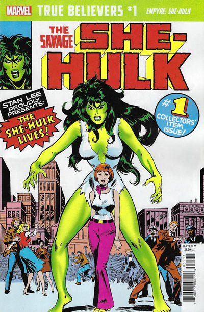 Cover for True Believers: Empyre - She-Hulk (Marvel, 2020 series) #1