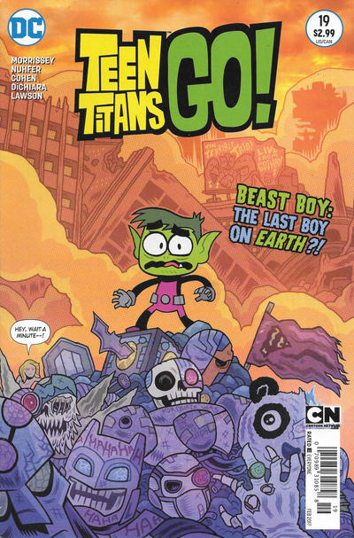 Cover for Teen Titans Go! (DC, 2014 series) #19 [Newsstand]