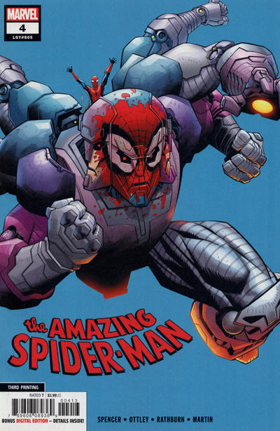 Cover for Amazing Spider-Man (Marvel, 2018 series) #4 (805) [Third Printing - Ryan Ottley Cover]