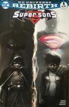 Cover Thumbnail for Super Sons (2017 series) #1 [Francesco Mattina Black and White Cover]