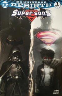 Cover Thumbnail for Super Sons (DC, 2017 series) #1 [Francesco Mattina Black and White Cover]
