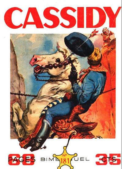 Cover for Cassidy (Impéria, 1957 series) #181
