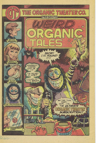 Cover for Weird Organic Tales (Chicago Reader, 1981 series)