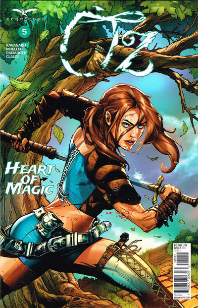 Cover for Oz: Heart of Magic (Zenescope Entertainment, 2019 series) #5 [Cover A - Drew Edward Johnson]