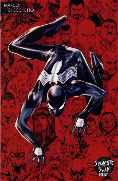 Cover for Symbiote Spider-Man: Alien Reality (Marvel, 2020 series) #1 [Variant Edition - Blank Black Cover]