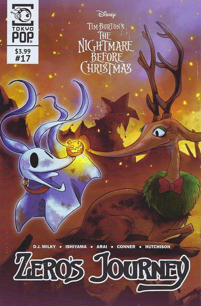 Cover for Disney Tim Burton's the Nightmare before Christmas: Zero's Journey (Tokyopop, 2018 series) #17