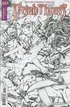 Cover for Dejah Thoris (Dynamite Entertainment, 2018 series) #4 [Cover E Black and White Sergio Dávila ]
