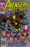 Cover for Avengers West Coast (Marvel, 1989 series) #51 [Mark Jewelers]