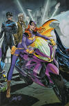 Cover Thumbnail for Batman (2016 series) #50 [JScottCampbell.com Exclusive Connecting Variant Cover - Batgirl, Nightwing, Commissioner Gordon]
