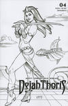 Cover for Dejah Thoris (Dynamite Entertainment, 2019 series) #3 [Incentive Black and White Cover Joseph Michael Linsner]