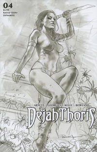 Cover Thumbnail for Dejah Thoris (Dynamite Entertainment, 2019 series) #4 [Incentive Black and White Cover Lucio Parrillo]