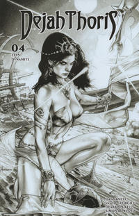 Cover Thumbnail for Dejah Thoris (Dynamite Entertainment, 2019 series) #4 [Incentive Black and White Cover Jay Anacleto]