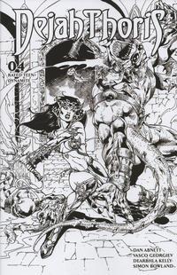 Cover Thumbnail for Dejah Thoris (Dynamite Entertainment, 2019 series) #4 [Bonus FOC Cover Roberto Castro Black and White]