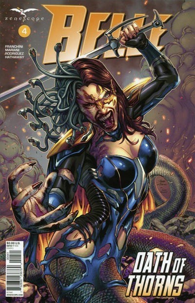 Cover for Belle: Oath of Thorns (Zenescope Entertainment, 2019 series) #4 [Cover A - Drew Edward Johnson]