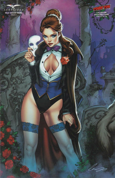 Cover for Belle: Oath of Thorns (Zenescope Entertainment, 2019 series) #2 [NYCC Cosplay Exclusive - Eric Basaldua]
