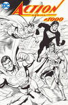 Cover Thumbnail for Action Comics (2011 series) #1000 [Dynamic Forces Dan Jurgens Black and White Wraparound Cover]