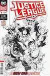 Cover for Justice League (DC, 2018 series) #1 [Jim Cheung Black and White Variant Cover]