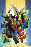 """Cover for Justice League (DC, 2018 series) #1 [Jim Cheung """"Thank You"""" Virgin Variant Cover]"""