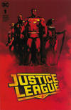Cover for Justice League (DC, 2018 series) #1 [Forbidden Planet / Jetpack Comics Jock Cover]