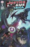 Cover for Justice League (DC, 2018 series) #1 [Frankie's Comics / Sad Lemon Comics Clayton Crain Homage Cover]