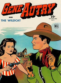 Cover Thumbnail for Four Color (Dell, 1942 series) #75 - Gene Autry and the Wildcat