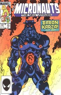 Cover Thumbnail for Micronauts (Marvel, 1984 series) #15 [Direct]