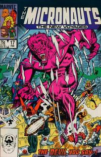 Cover Thumbnail for Micronauts (Marvel, 1984 series) #17 [Direct]