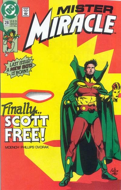 Cover for Mister Miracle (DC, 1989 series) #28 [Direct]