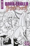 Cover for Barbarella/Dejah Thoris (Dynamite Entertainment, 2019 series) #2 [Cover J Black and White Maria Sanapo]