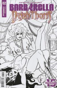 Cover Thumbnail for Barbarella/Dejah Thoris (Dynamite Entertainment, 2019 series) #2 [Cover J Black and White Maria Sanapo]